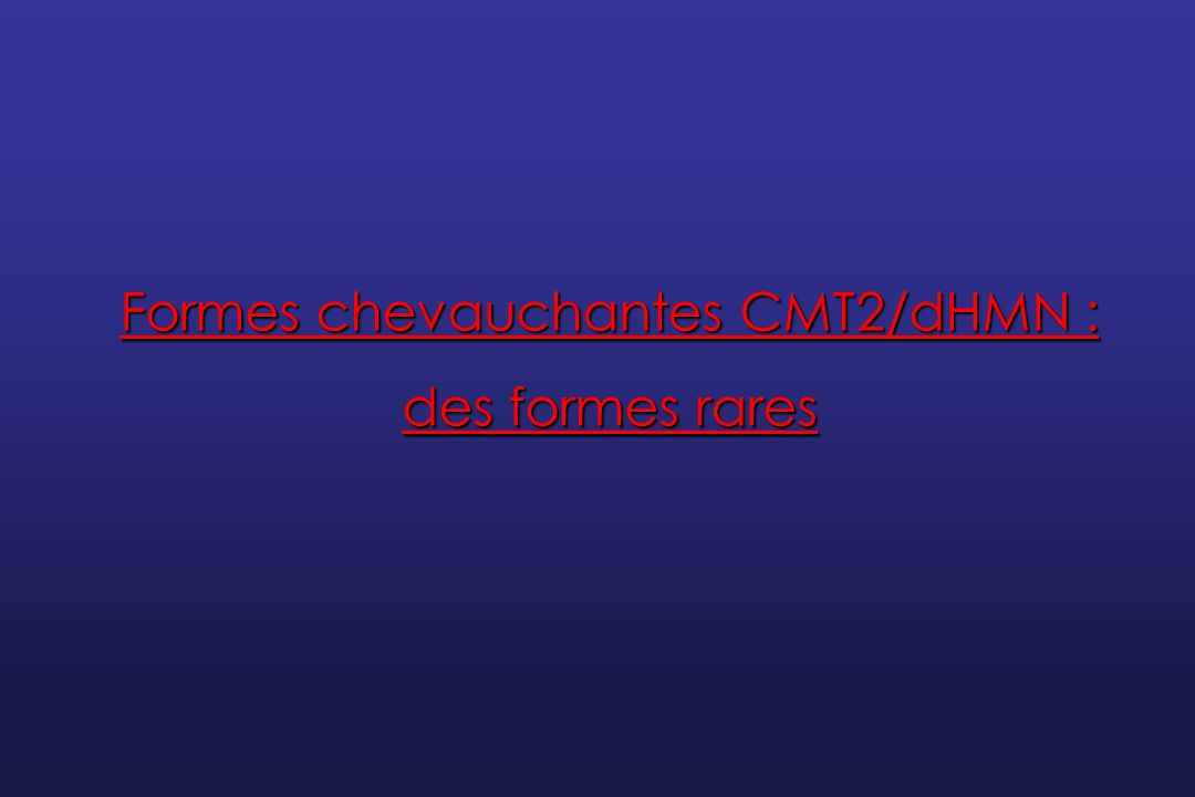 Formes chevauchantes CMT2/dHMN :