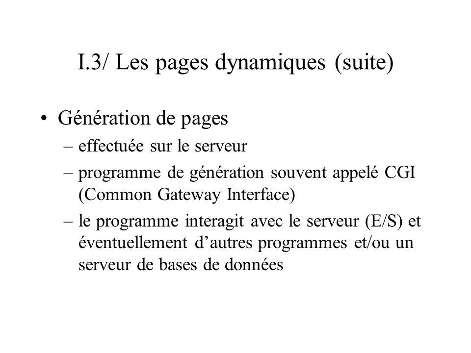 I.3/ Les pages dynamiques (suite)