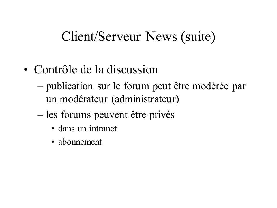 Client/Serveur News (suite)
