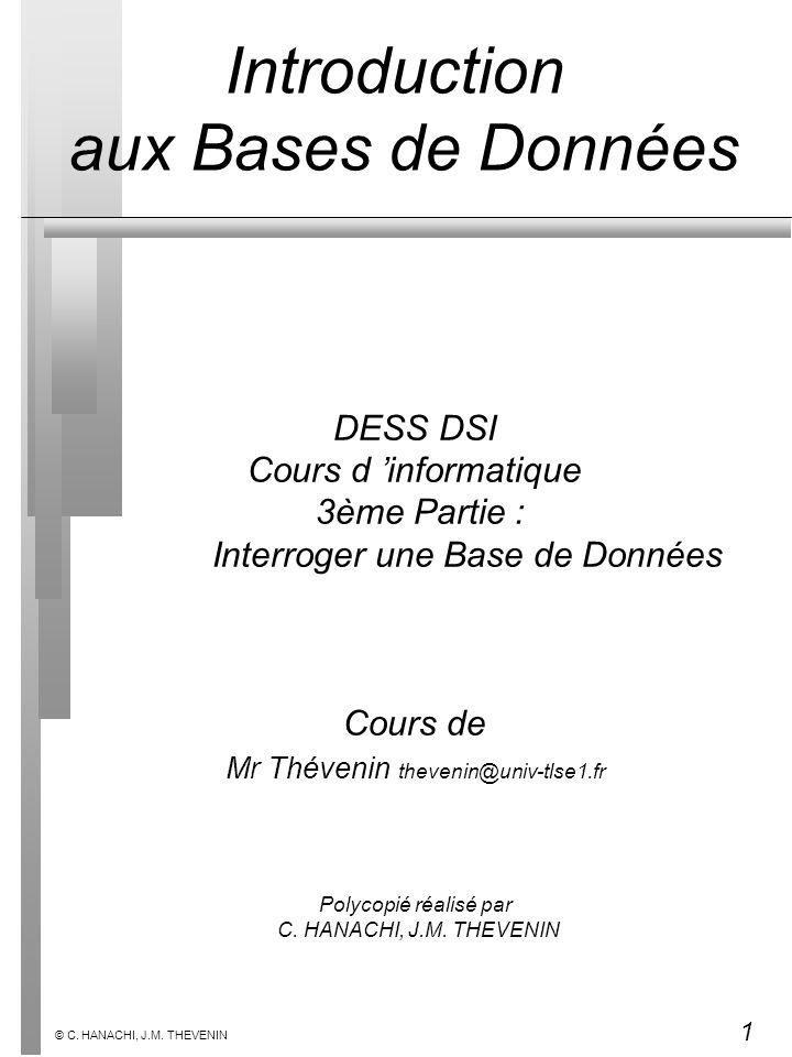 Introduction aux Bases de Données