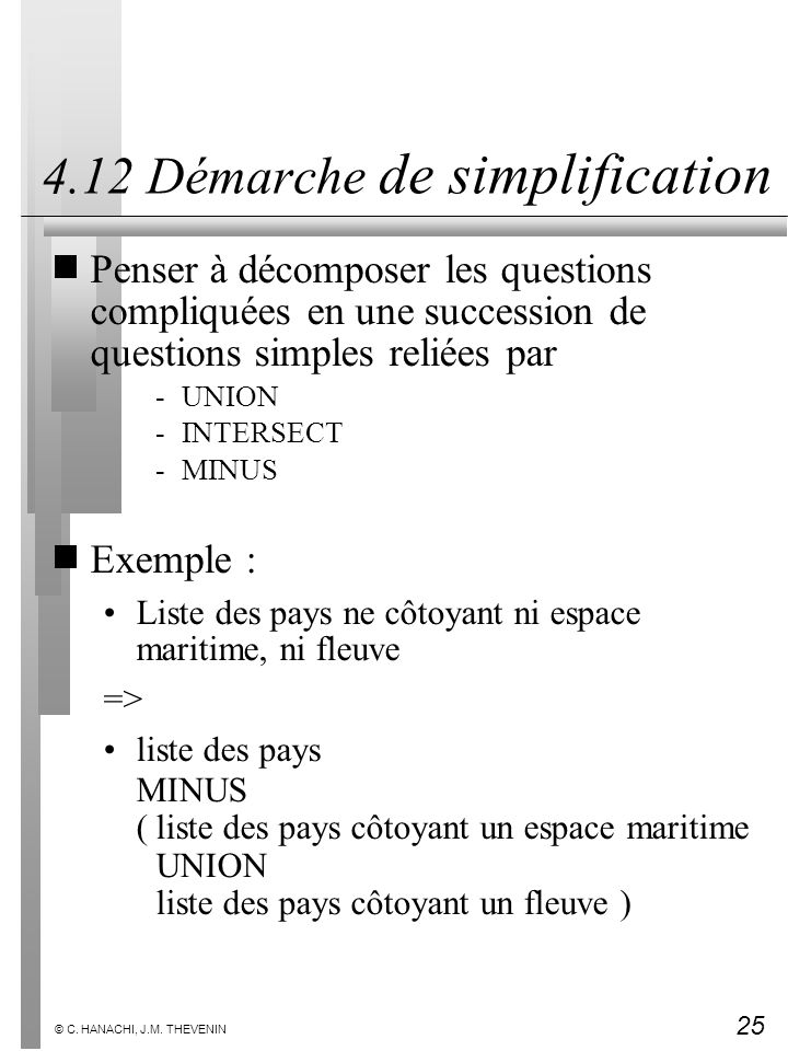 4.12 Démarche de simplification
