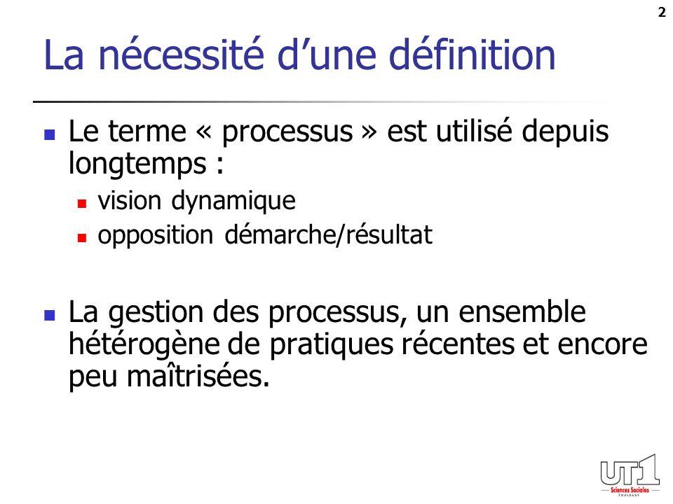 La nécessité d'une définition