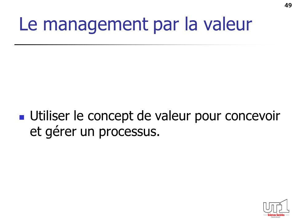 Le management par la valeur