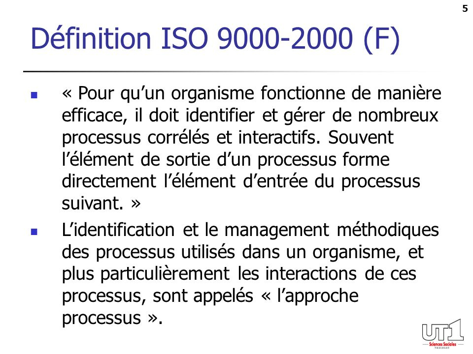 Définition ISO (F)