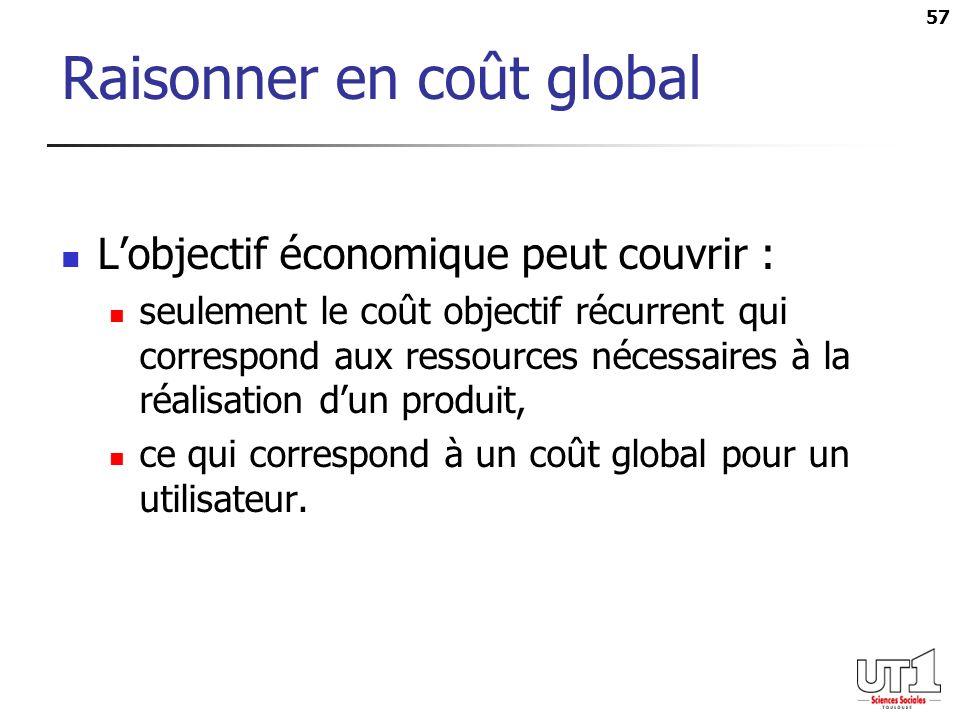 Raisonner en coût global