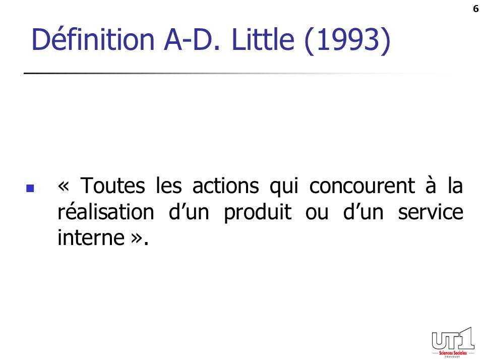 Définition A-D. Little (1993)