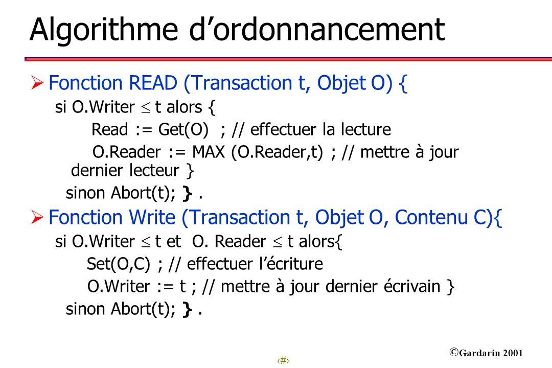 Algorithme d'ordonnancement