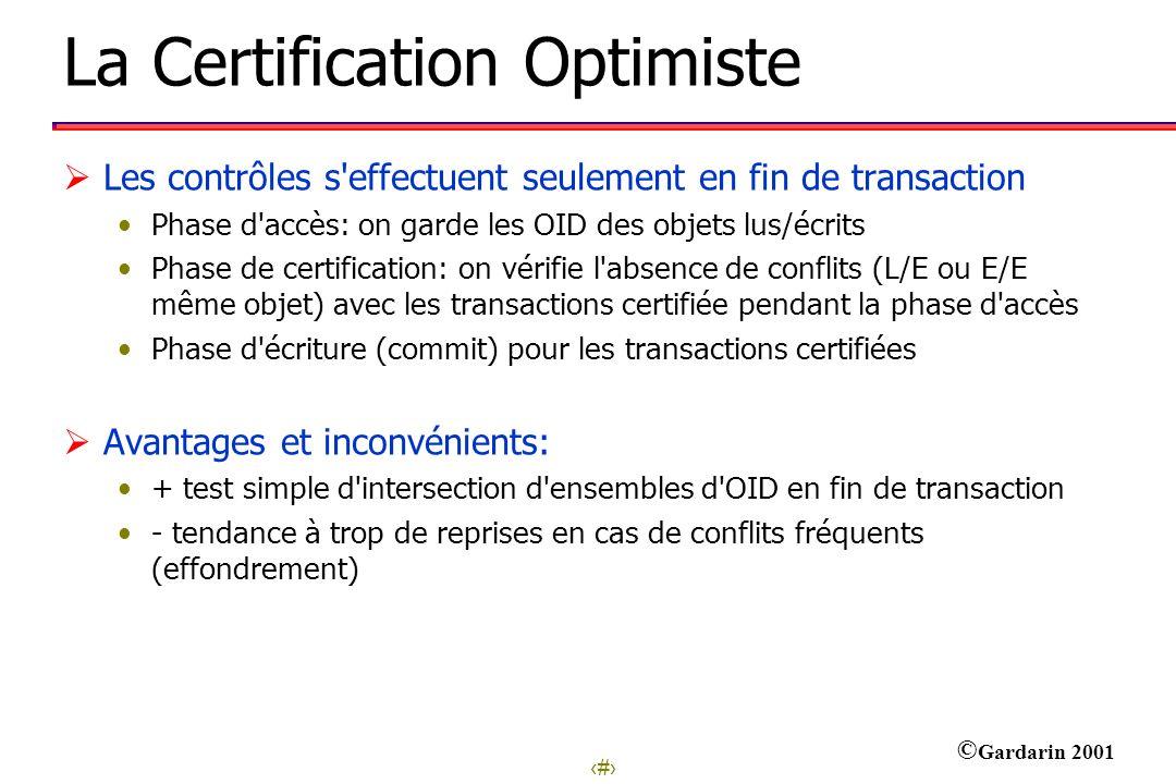 La Certification Optimiste
