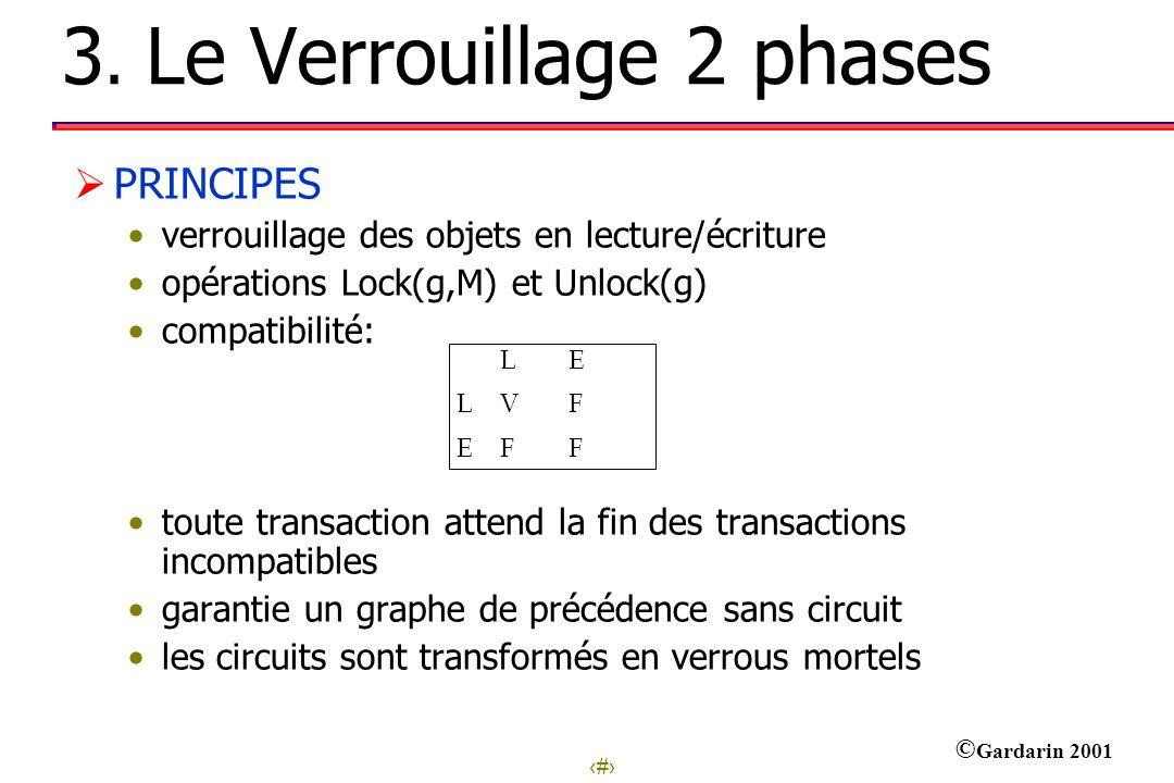 3. Le Verrouillage 2 phases