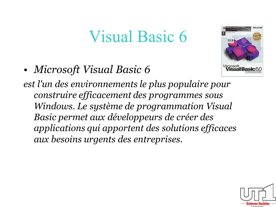 Visual Basic 6 Microsoft Visual Basic 6