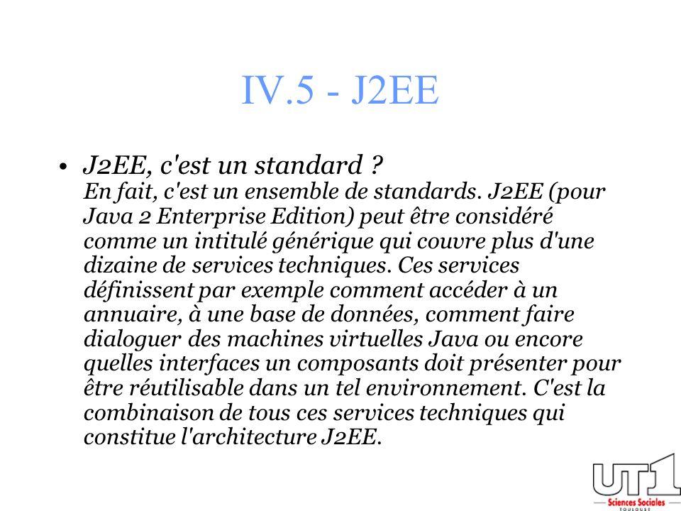 IV.5 - J2EE