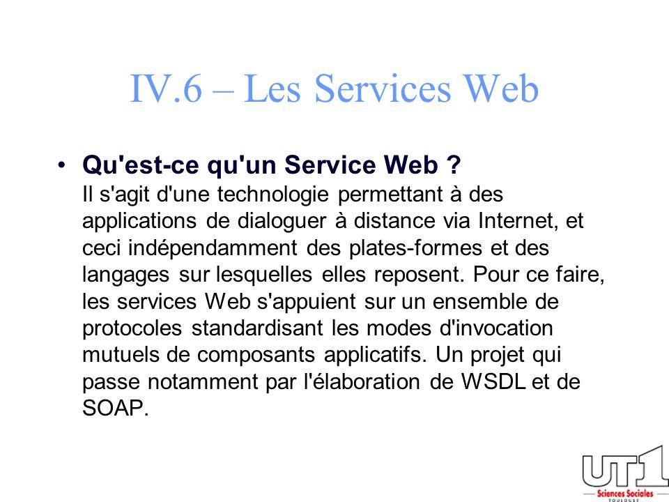 IV.6 – Les Services Web
