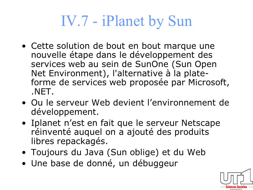 IV.7 - iPlanet by Sun
