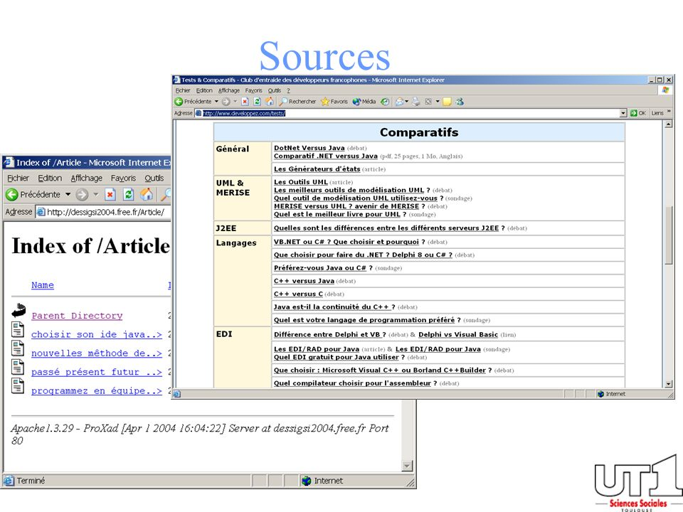 Sources Diverse ressources Web