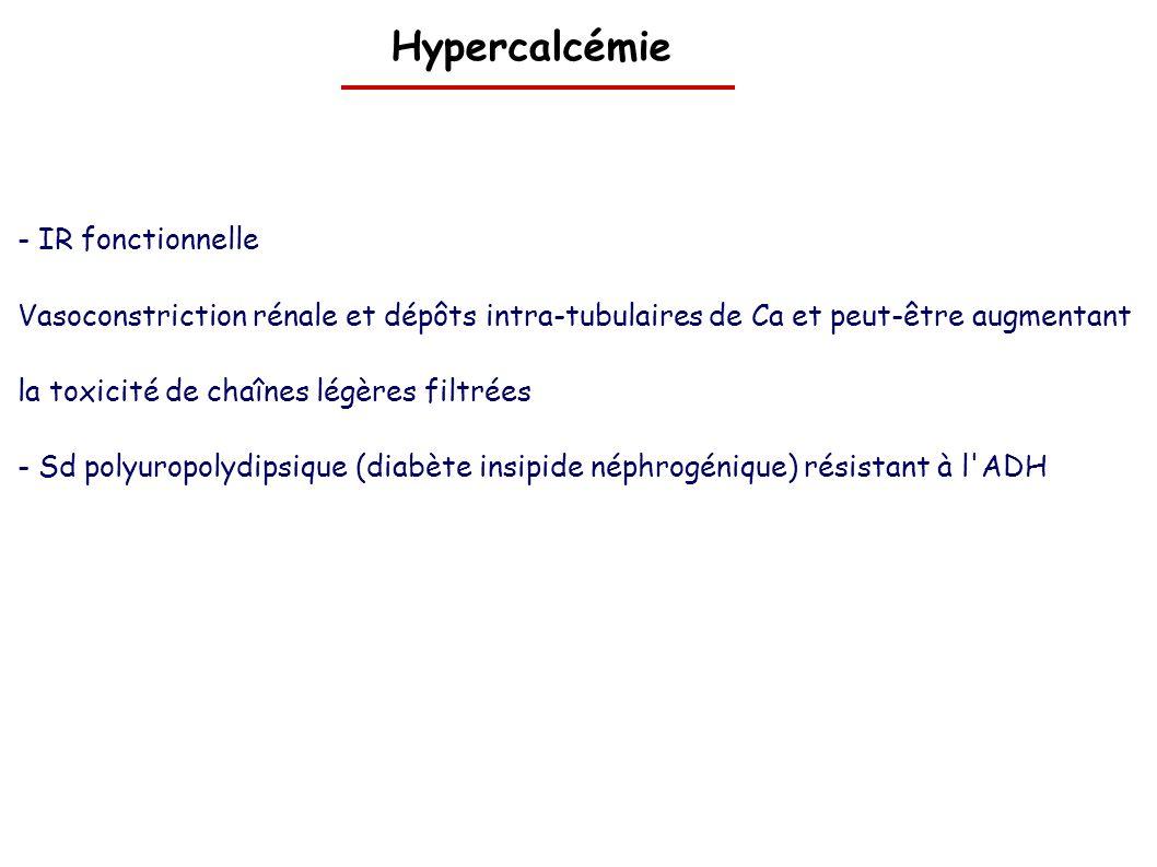 Hypercalcémie - IR fonctionnelle