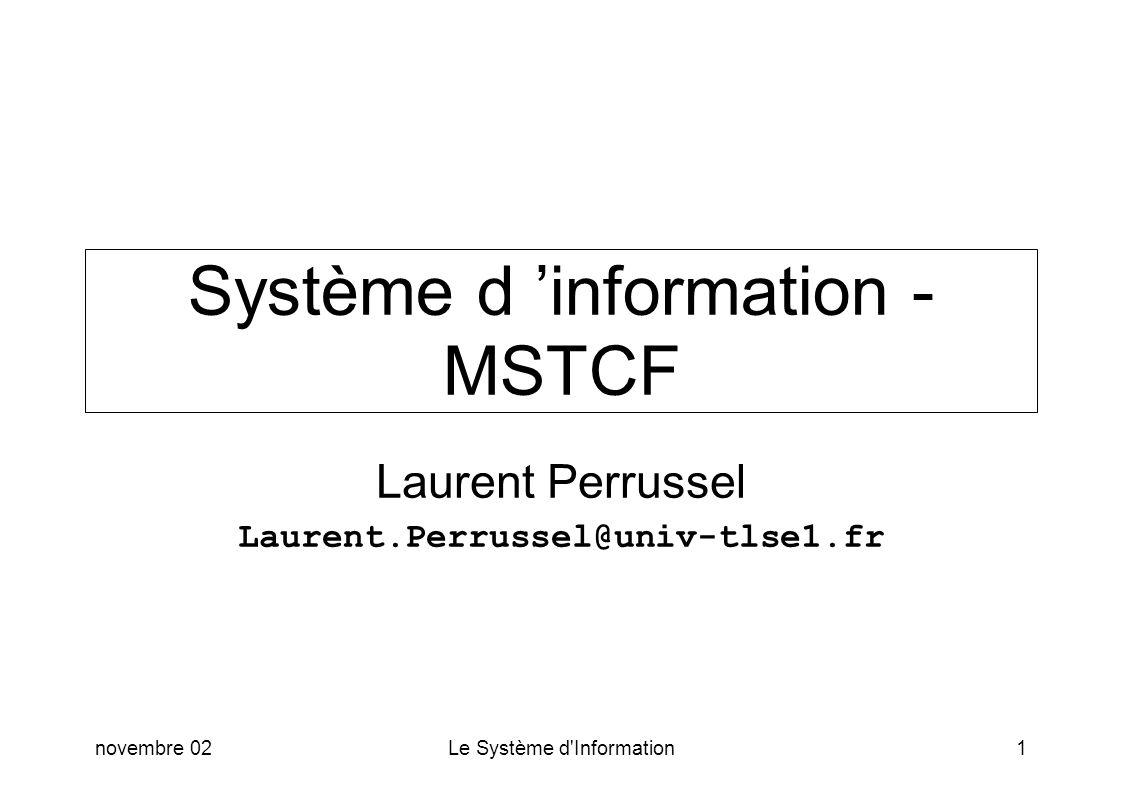 Système d 'information - MSTCF