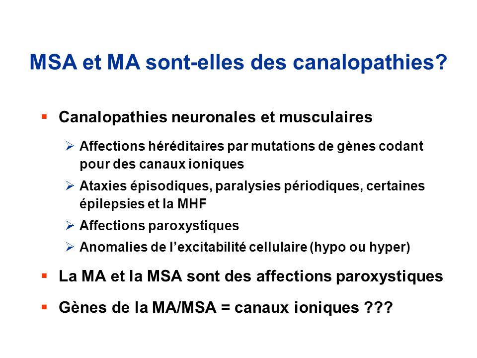 MSA et MA sont-elles des canalopathies