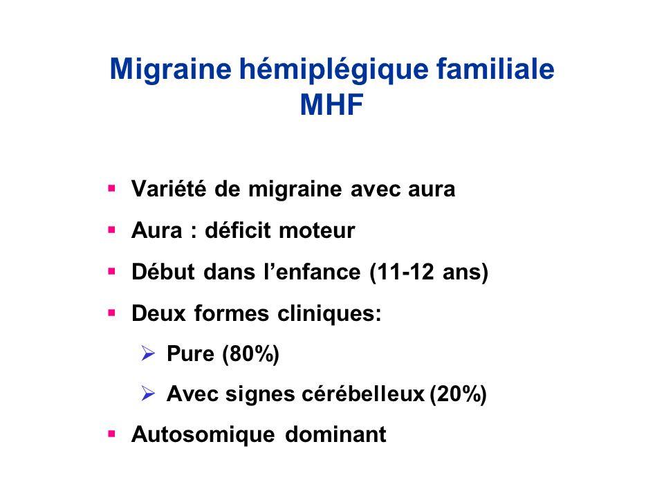 Migraine hémiplégique familiale MHF