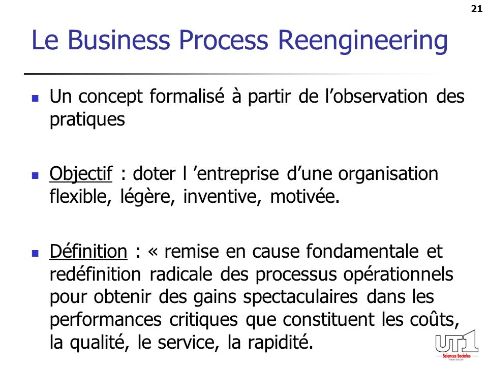 Le Business Process Reengineering