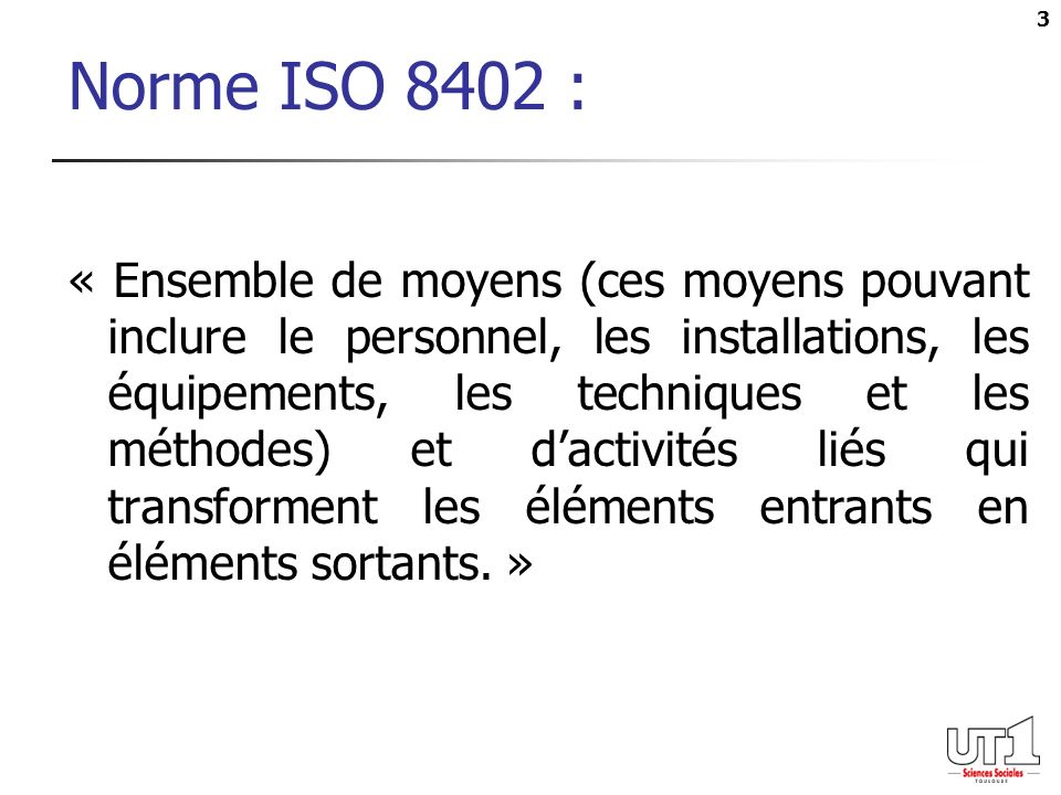 Norme ISO 8402 :