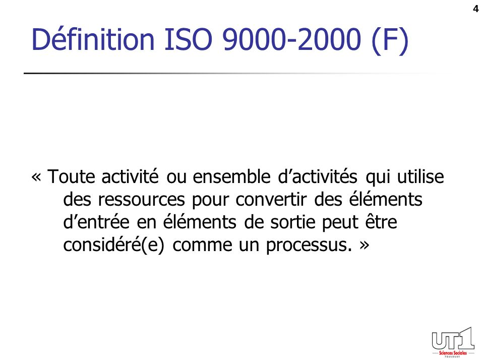 Définition ISO 9000-2000 (F)