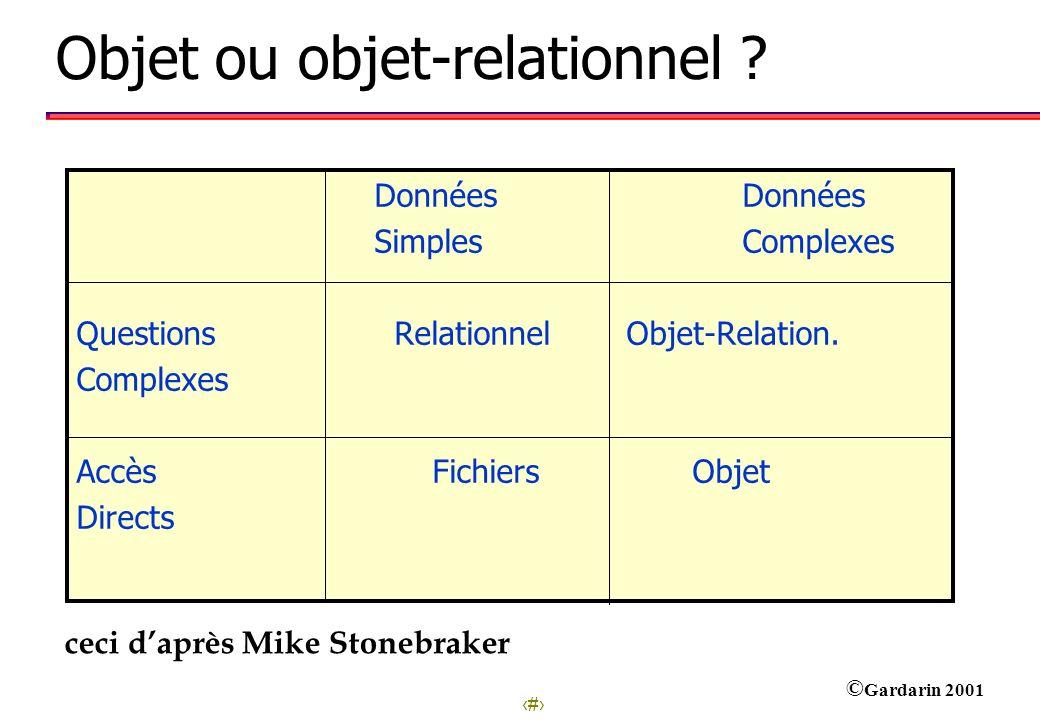 Objet ou objet-relationnel