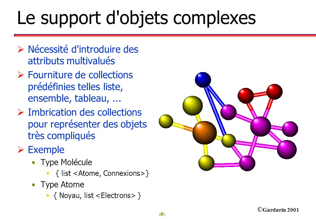 Le support d objets complexes