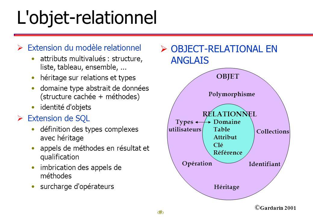 L objet-relationnel OBJECT-RELATIONAL EN ANGLAIS