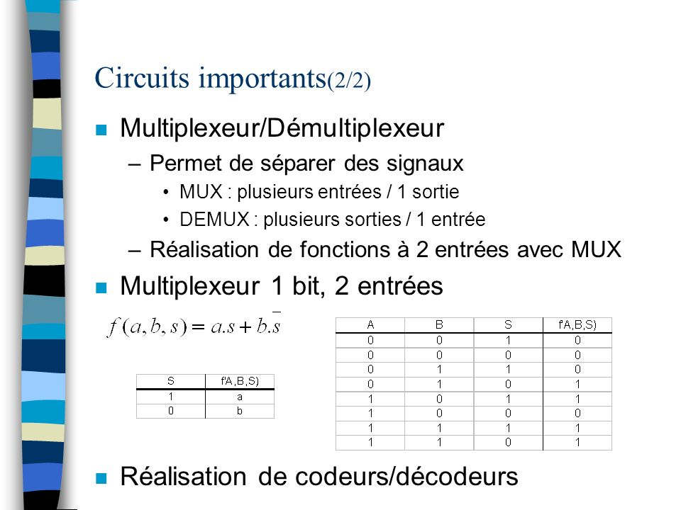 Circuits importants(2/2)