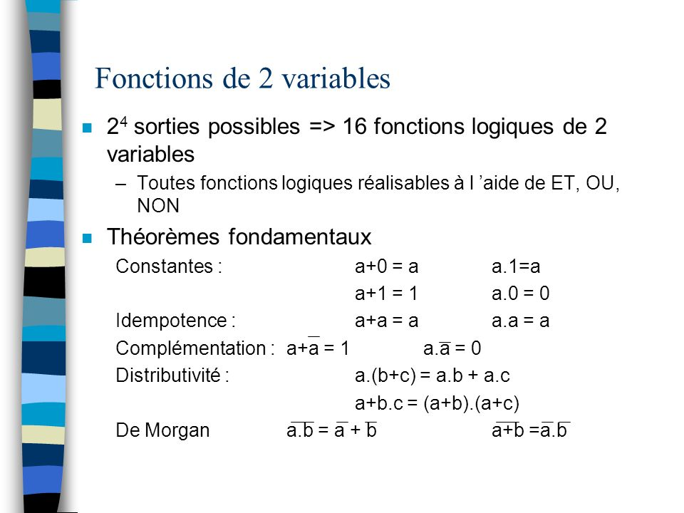 Fonctions de 2 variables