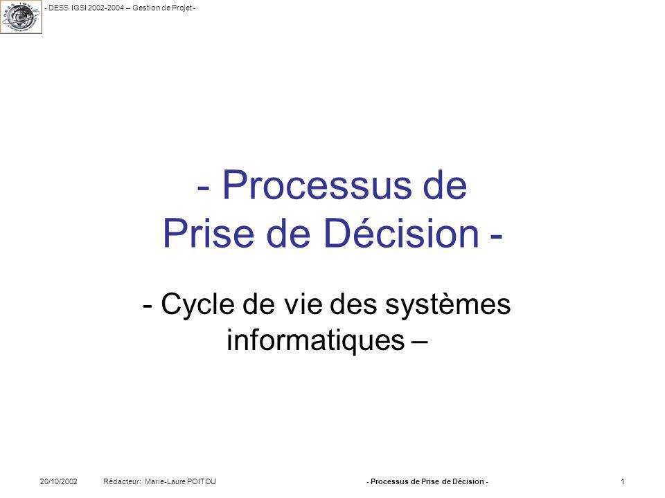 - Processus de Prise de Décision -