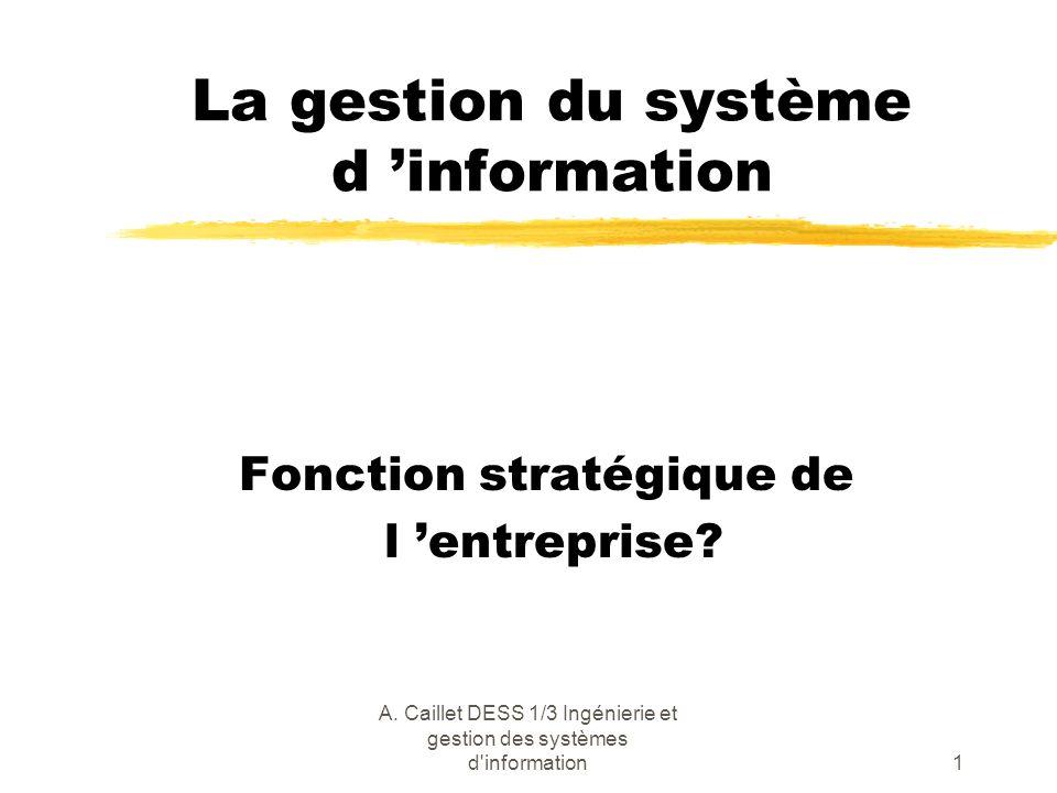 La gestion du système d 'information