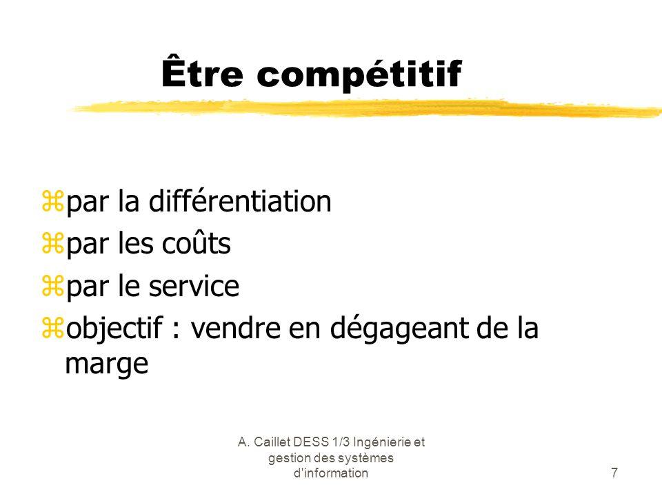 A. Caillet DESS 1/3 Ingénierie et gestion des systèmes d information