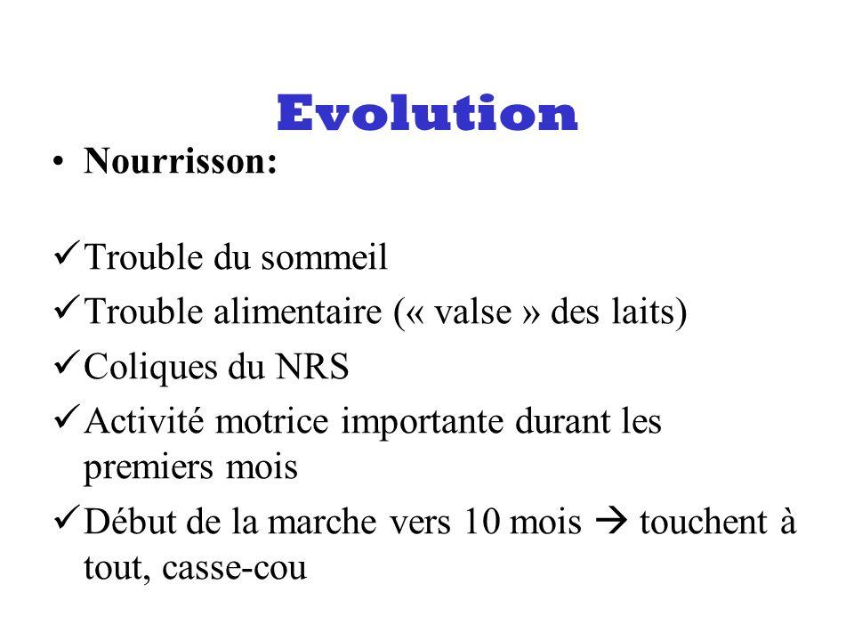 Evolution Nourrisson: Trouble du sommeil