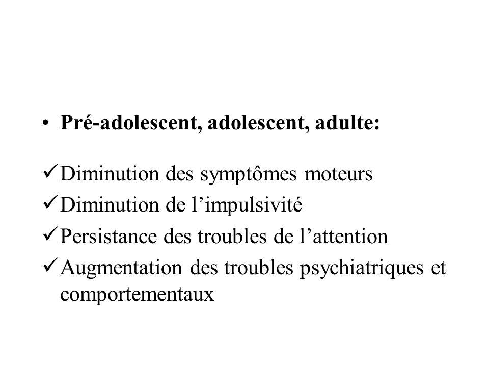 Pré-adolescent, adolescent, adulte: