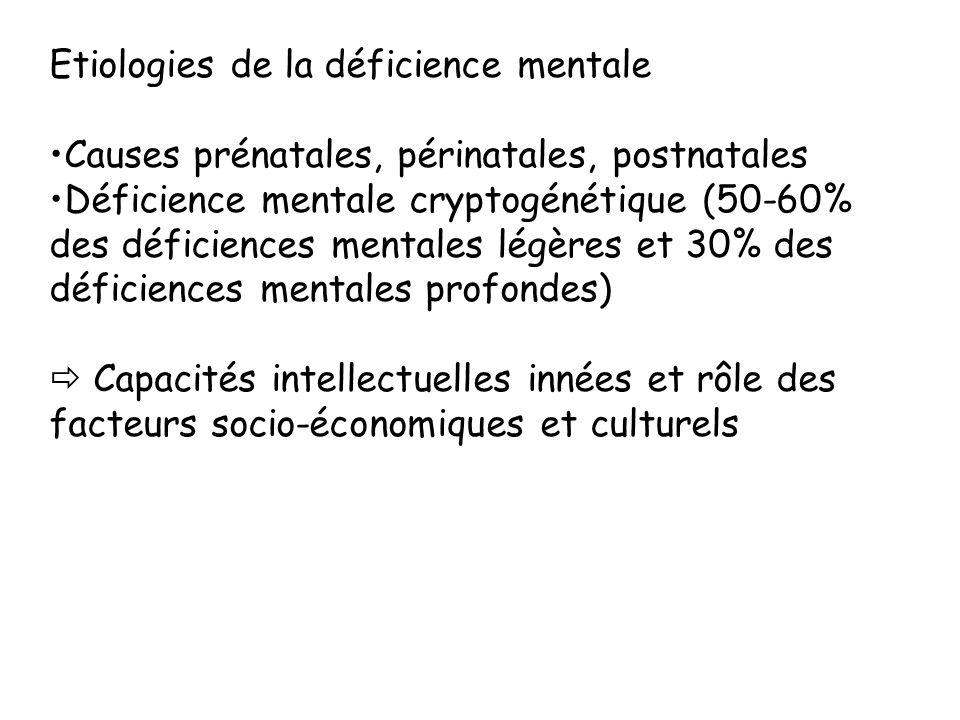 Etiologies de la déficience mentale
