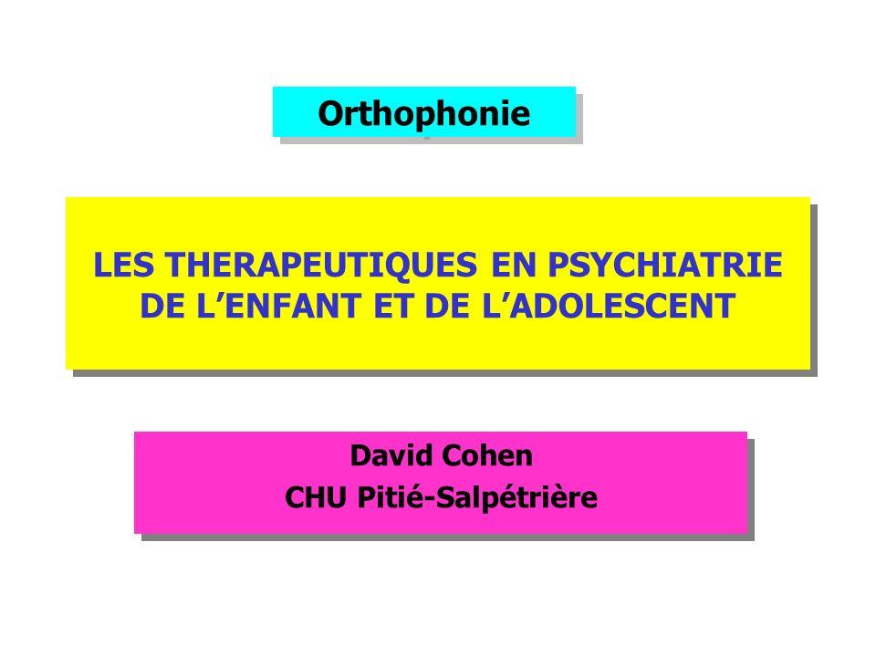 LES THERAPEUTIQUES EN PSYCHIATRIE DE L'ENFANT ET DE L'ADOLESCENT