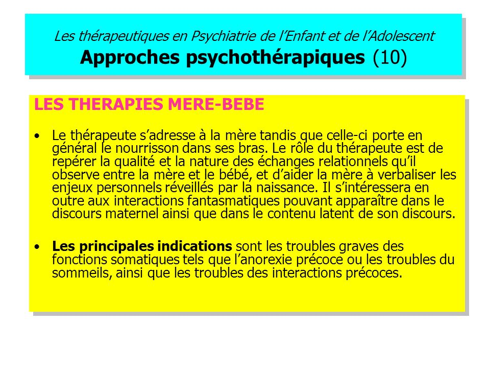 LES THERAPIES MERE-BEBE