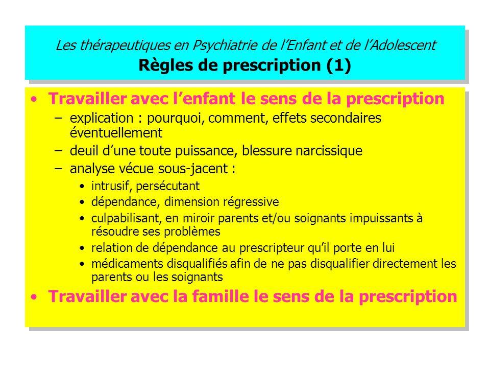 Travailler avec l'enfant le sens de la prescription