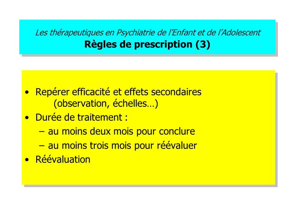 Repérer efficacité et effets secondaires (observation, échelles…)