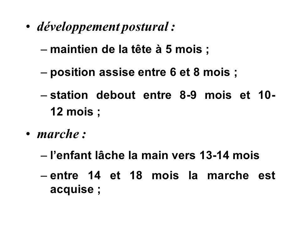 développement postural :