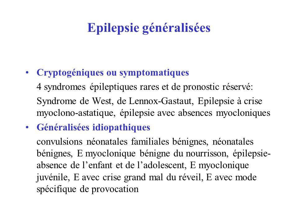Epilepsie généralisées