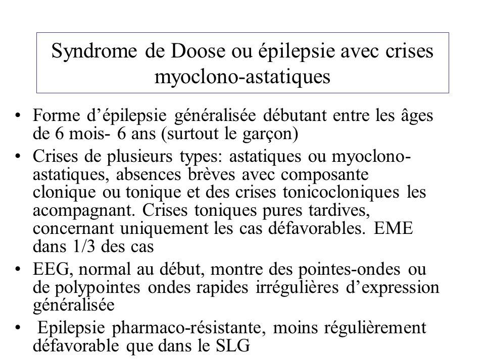 Syndrome de Doose ou épilepsie avec crises myoclono-astatiques
