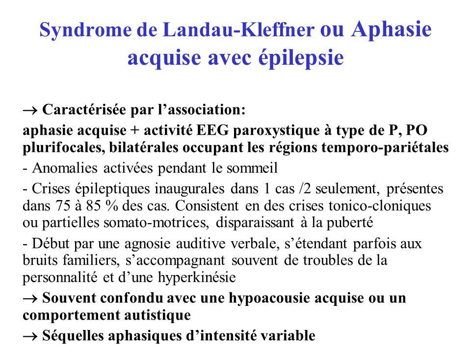 Syndrome de Landau-Kleffner ou Aphasie acquise avec épilepsie