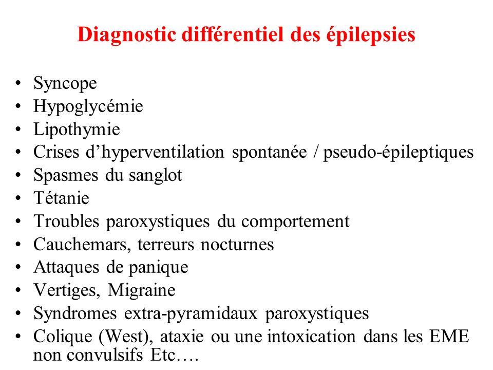 Diagnostic différentiel des épilepsies