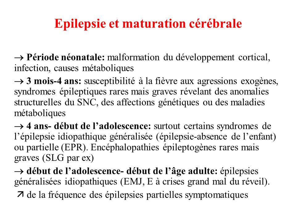 Epilepsie et maturation cérébrale