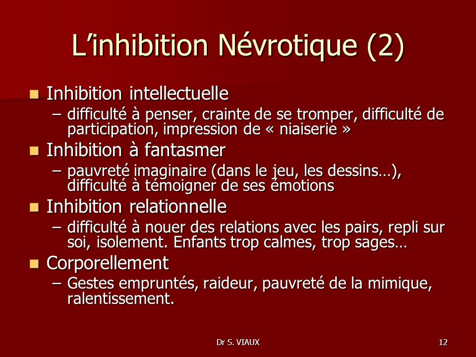 L'inhibition Névrotique (2)
