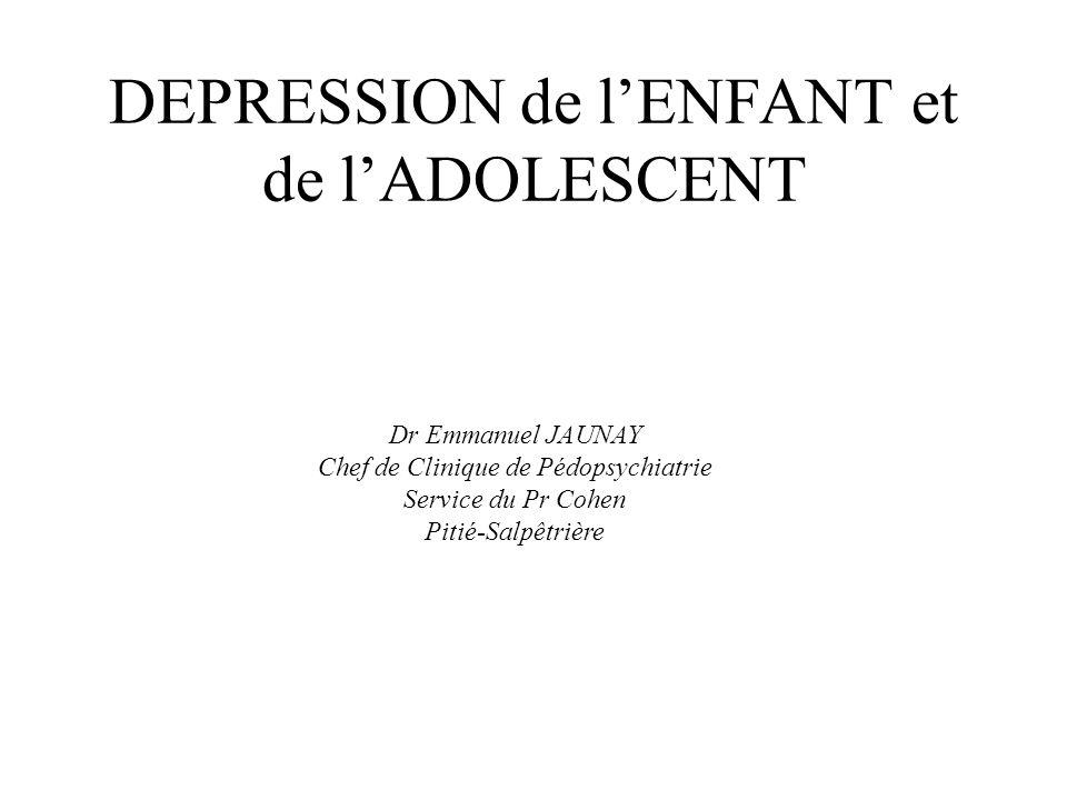 DEPRESSION de l'ENFANT et de l'ADOLESCENT