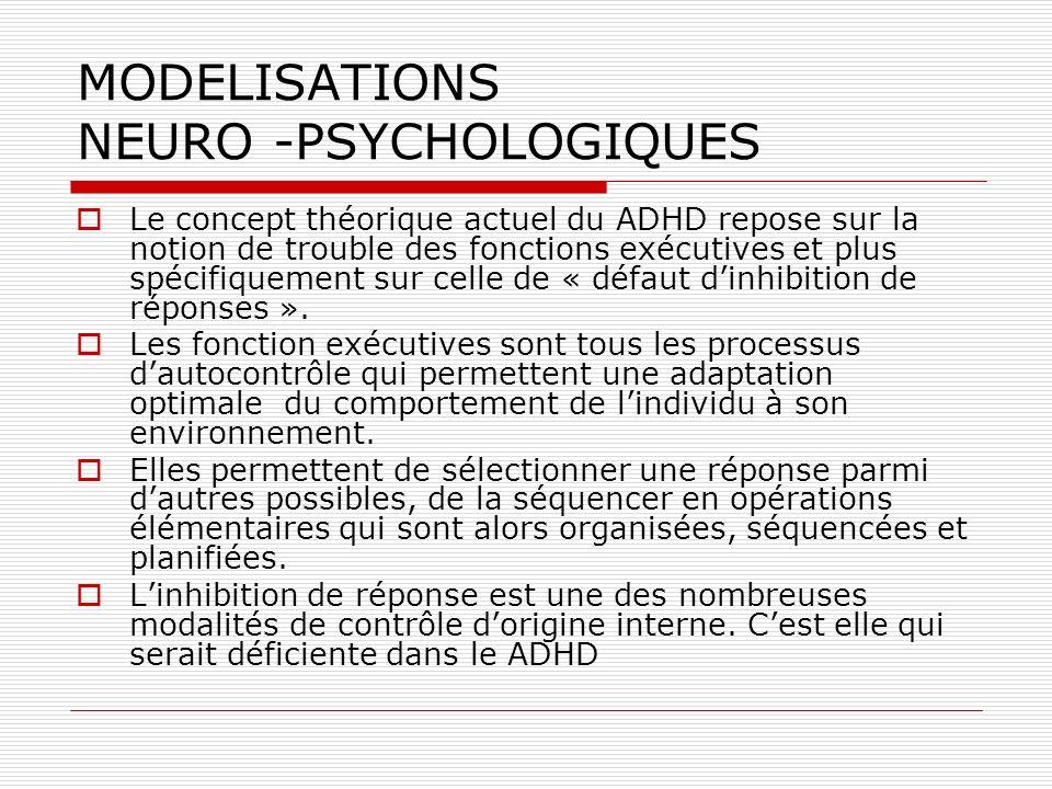 MODELISATIONS NEURO -PSYCHOLOGIQUES