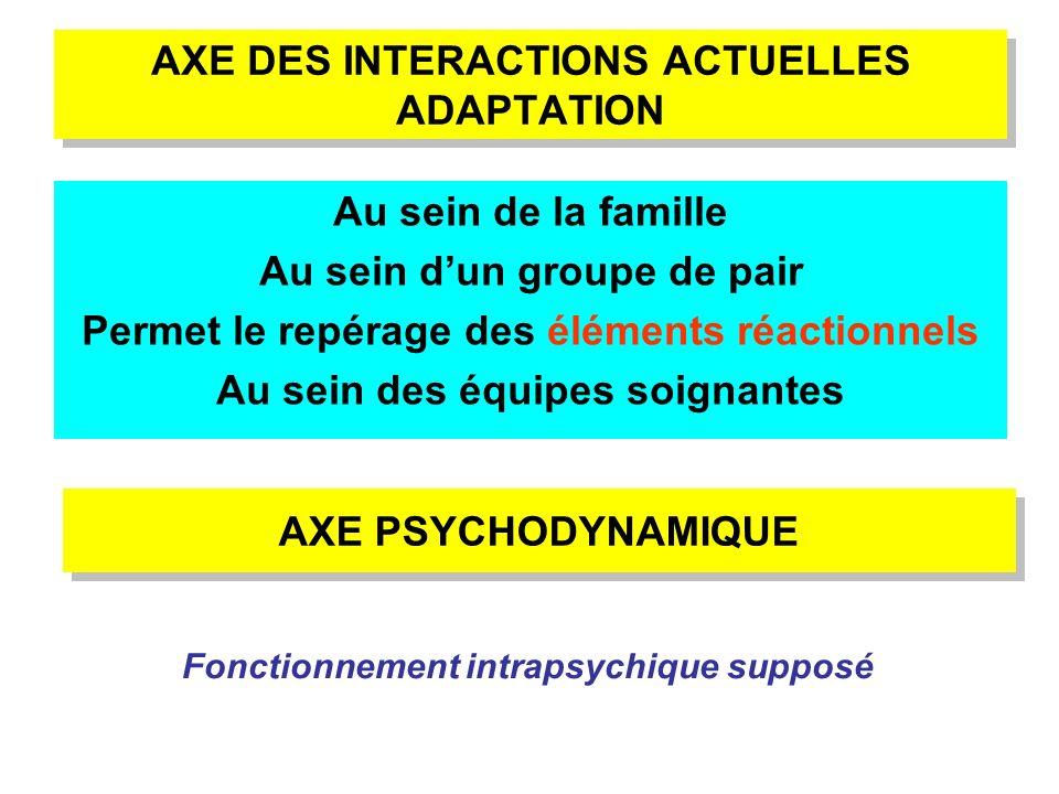 AXE DES INTERACTIONS ACTUELLES ADAPTATION